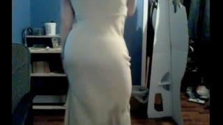 getlinkyoutube.com-My foam hip/butt pads worn under a sexy silk gown