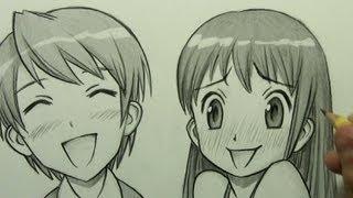 getlinkyoutube.com-How to Draw Manga Facial Expressions (Joy, Embarrassment)
