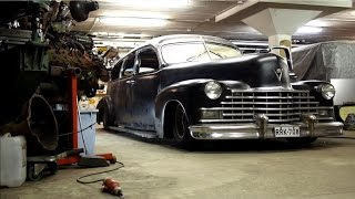 getlinkyoutube.com-Chopping the roof of a '46 Cadillac hearse