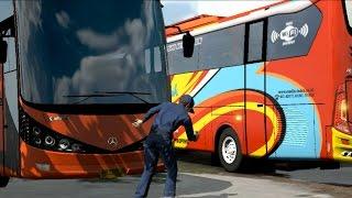 getlinkyoutube.com-ETS2 Pengantaran Bus Rosalia Indah Ke Cucian