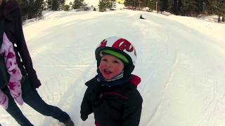 getlinkyoutube.com-World Record Youngest Skier. Rohan McClaran 1 year old