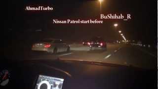 getlinkyoutube.com-Nissan VTC Turbo + 1000whp vs 2012 Cls b63 Brabus vs 2012 GTR R35  in UAE