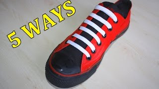 getlinkyoutube.com-5 Creative Ways to fasten Shoelaces | MrGear