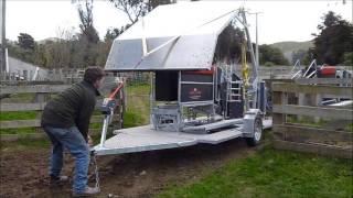 getlinkyoutube.com-Combi Clamp Sheep Handler Trailer