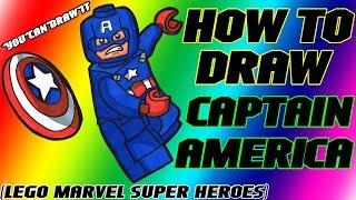 getlinkyoutube.com-How To Draw Captain America from Lego Marvel Super Heroes ✎ YouCanDrawIt ツ 1080p HD