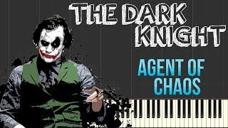 The Dark Knight - Agent of Chaos | Hans Zimmer (Piano Tutorial Synthesia) width=