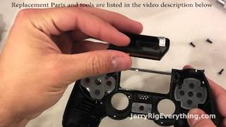 getlinkyoutube.com-PS4 Controller Repair, Charging port fix, battery replacement. Complete Tear down.