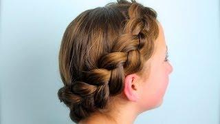 getlinkyoutube.com-Wrap-Around Dutch Pancake Braid | Cute Girls Hairstyles