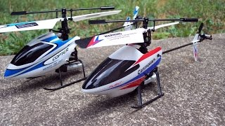 getlinkyoutube.com-Flight of the Wltoys V911 V1 vs the V911 PRO Helic