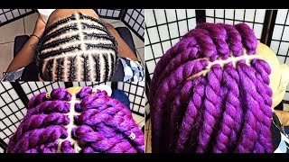 getlinkyoutube.com-#170. PERFECT MIDDLE PART PATTERN ... LILAC GODDESS TWIST