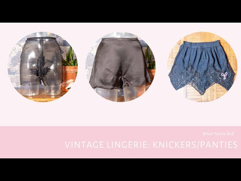Vintage Lingerie: Knickers and Panties from the 1940s/50s