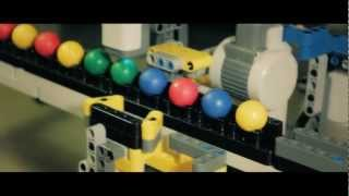 Lego Mindstorms Nxt Robot Performing QuickSort Algorithm