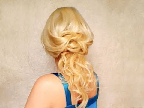 Half up half down hairstyles for long hair with curls Easy cute bridal prom updo spring 2011