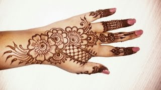 Beautiful simple mehndi designs for hands 2016-simple henna designs tutorials