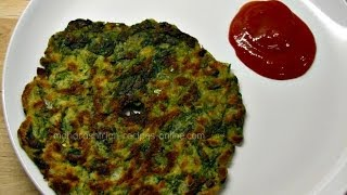 getlinkyoutube.com-Palak Thalipeeth - Quick and healthy breakfast recipe | Maharashtrian recipes| Indian veg recipes