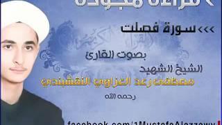 سورة فصلت بقراءة مجودة بصوت الشيخ الشهيد مصطفى رعد العزاوي النقشبندي