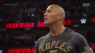 getlinkyoutube.com-rock helps roman reigns and roman reigns wins the royal rumble