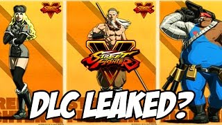 getlinkyoutube.com-Street Fighter 5: NEW DLC Characters Leaked? - Street Fighter V Season 2 Possible DLC Characters
