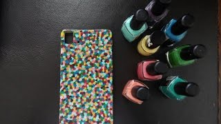 getlinkyoutube.com-DIY: funda para el movil con PINTAUÑAS de colorines