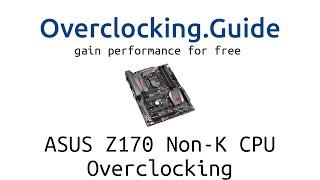 getlinkyoutube.com-Skylake non-K CPU Overclocking auf ASUS Z170 Maximus VIII Hero. G4400, i3-6100, i5-6400, german