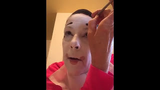 getlinkyoutube.com-Whiteface Clown Makeup Tutorial
