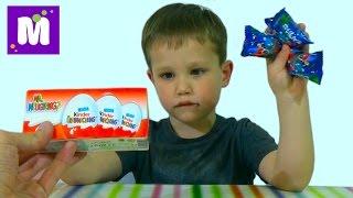 getlinkyoutube.com-Стикизы Киндер сюрприз игрушки распаковка Stikeez Kinder surprise eggs toys