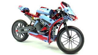 getlinkyoutube.com-Lego Technic 42036 Street Motorcycle Speed Build And Review