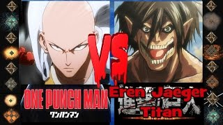 getlinkyoutube.com-Saitama (One Punch Man) vs Eren Jaeger Titan (Attack on Titan) - Ultimate Mugen Fight 2016