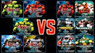 getlinkyoutube.com-Real Steel WRB ATOM VS UW I ROBOTS Series Fights | Old School (Живая Сталь)