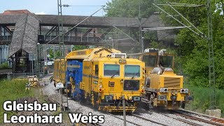 getlinkyoutube.com-Gleisbau Doku mit Leonhard Weiss  | Weichenstopfmaschine und Schotterplaniermaschine