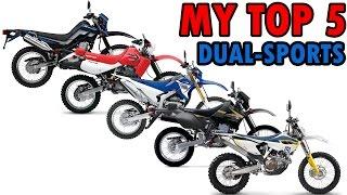 My Top 5 Dual Sport / Enduro Motorcycles | MotoVlog #22