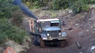 getlinkyoutube.com-M35 Truck, hard work, 6x6 (URAL/ZIL)
