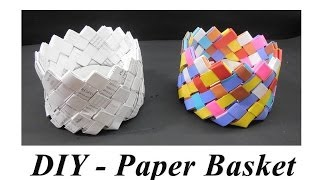 getlinkyoutube.com-DIY - How to make Paper Basket