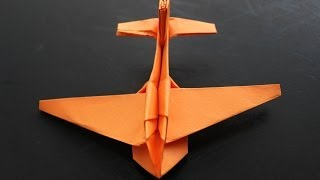 getlinkyoutube.com-How to make a cool paper plane origami: instruction| JIMBO
