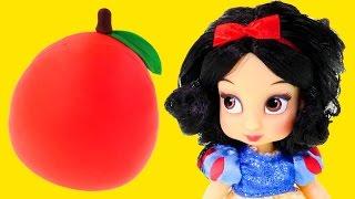 getlinkyoutube.com-NEW Disney Princess Mini Snow White Animators Collection + Play Doh Surprise Egg Toy Doll Unboxing