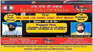 getlinkyoutube.com-Surinder Singh With Dr. Gurdarshan Singh Dhillon Discussion On Sikh Masle Ate Sarbat Khalsa Nov 2016