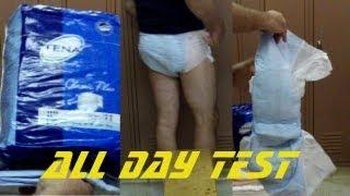 getlinkyoutube.com-Tena classic plus adult diaper briefs all day test