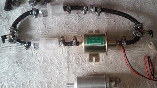 Установка электро подкачивающего насоса топлива Hep-02a на Ford 1.8 TD для лучшего запуска.