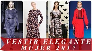 getlinkyoutube.com-Tendencias de moda 2017   ver vestir elegante mujer de moda