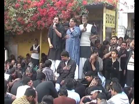 nohey khwan shoaib zaidi in India At zaidi farm Meerut with Molana Ammar (takrir 10 Moharram )