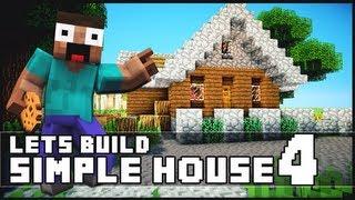 getlinkyoutube.com-Minecraft: How To Build a Simple Starter House 4