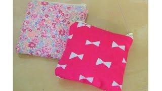 getlinkyoutube.com-DIY サニタリーポーチの作り方 How to make sanitary small pouch