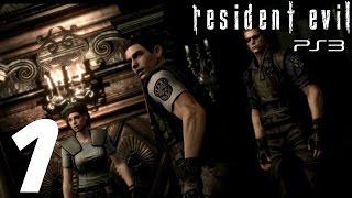 getlinkyoutube.com-Resident Evil HD Remaster (PS3) - Chris Walkthrough Part 1 - The Mansion