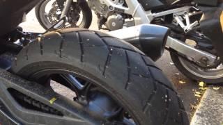 getlinkyoutube.com-Honda nc750x stock tyres after 2000 miles