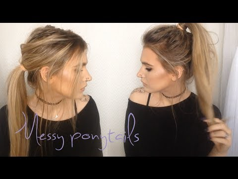♡ Messy ponytails | 2 in 1 hair tutorial ♡