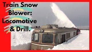 getlinkyoutube.com-Train Snow Blower Consists of Locomotive & Drill (HD, 1080p)