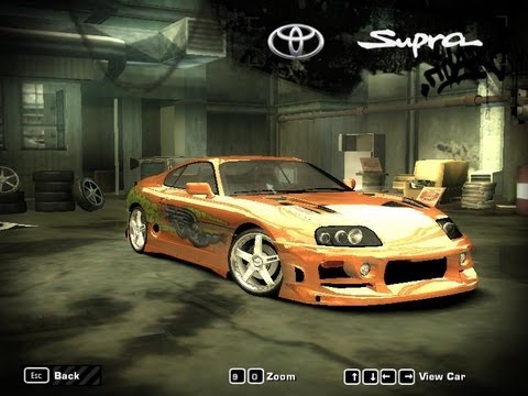 NFS MW Supra Test Drag