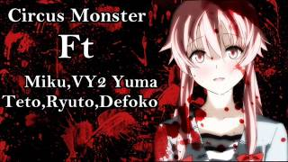 getlinkyoutube.com-Circus Monster (Vocaloid Chorus) Miku,VY2 Yuma,Ryuto.Teto,Defoko