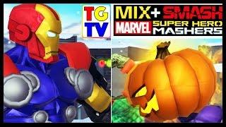 getlinkyoutube.com-Marvel Super Hero Mashers Iron Man Hulk Loki Stage 4-6 (Battles Edited) | Mix + Smash