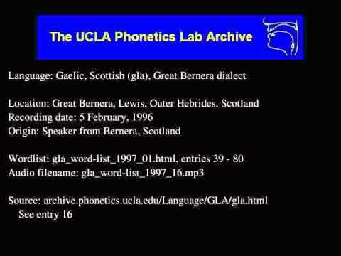 Gaelic, Scottish audio: gla_word-list_1997_16